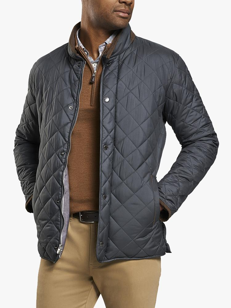 Peter Millar Men's Suffolk Quilted Travel Coat