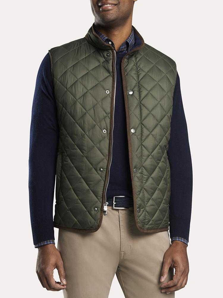 Peter Millar Men's Essex Quilted Traveler Vest