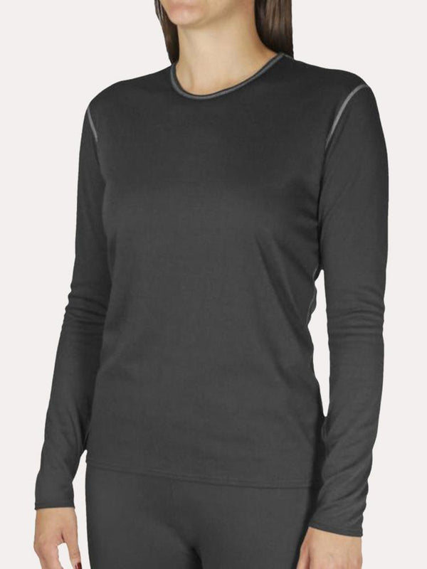 Hot Chillys Womens Wool Stretch Crewneck Top