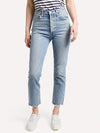 Agolde Riley Hi-Rise Straight Crop Jean