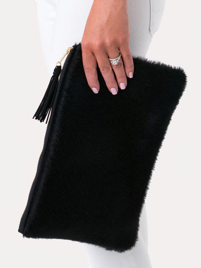 Parker and Hyde The Annie Clutch Jet Black