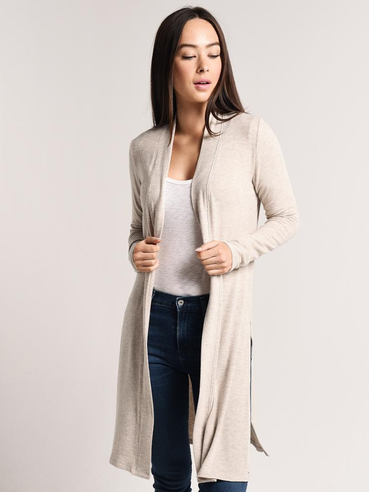 1adabb8d43 Beyond Yoga High Slit Long Duster Cardigan - saintbernard.com