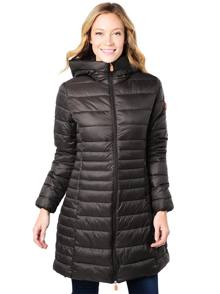 new style d08f0 5c49a Save The Duck Women's Giga 3 Long Jacket