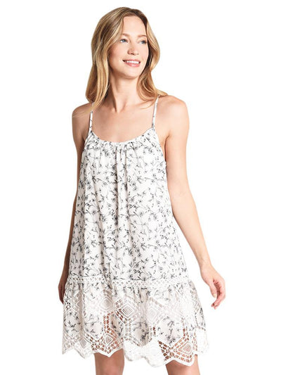 Papercrane Sleeveless Floral Dress with Lace