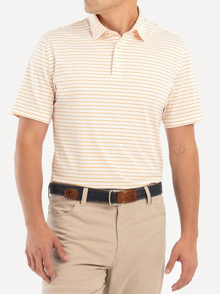 Johnnie-O Men's Beech Striped Prep-Performance Jersey Polo