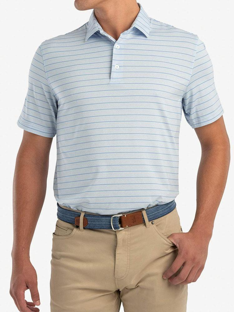 Johnnie-O Men's Kiawah Striped Prep-Formance Jersey Polo