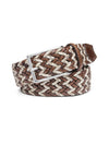 Peter Millar Men's Woven Check Trimmed Belt