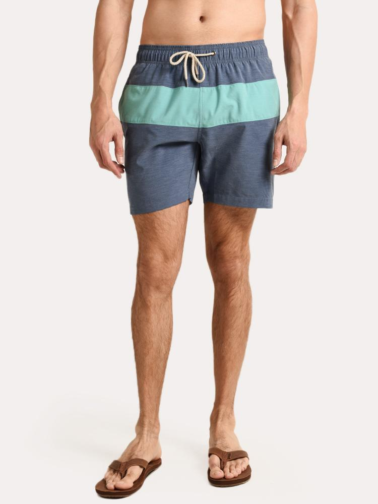a11105341c27e Faherty Brand Men's Beacon Swim Trunk - Navy Green - saintbernard.com