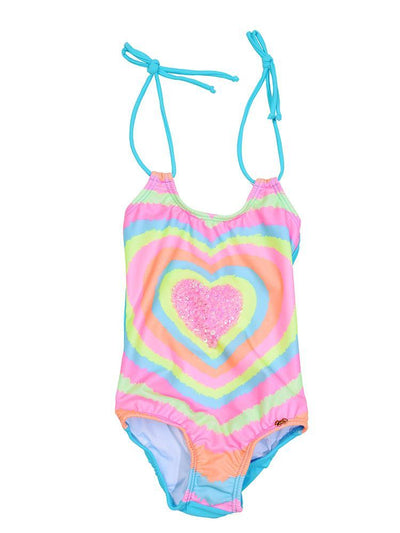 Pily Q Neon Heart Embroidered One Piece