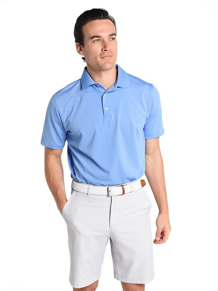 Peter Millar Men's Halford Stripe Stretch Jersey Polo