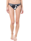 Tommy Bahama Women's Graphic Leaf Hipster Bikini Bottoms With Tortoise Rings