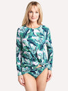 Tommy Bahama Women's Long Sleeve Twist Front Rashgaurd