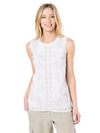 Tommy Bahama Women's Bell Leaves Linen Tank