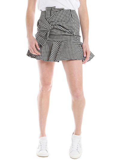 Do+Be Gingham Bow Mini Skirt