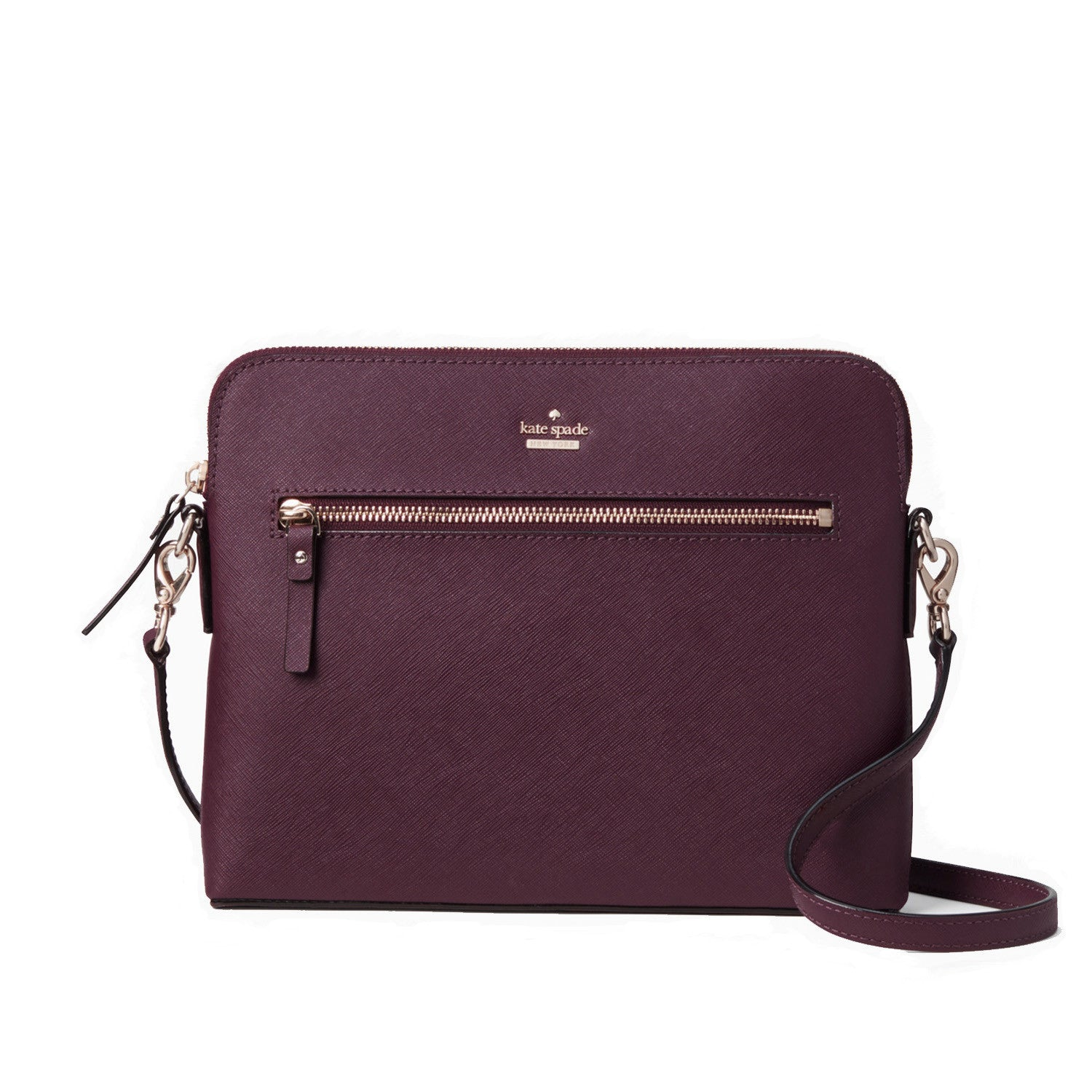 a35023793d45 ... Everpurse Kate Spade Zana Maroon Crossbody Bag that Charges Phone ...
