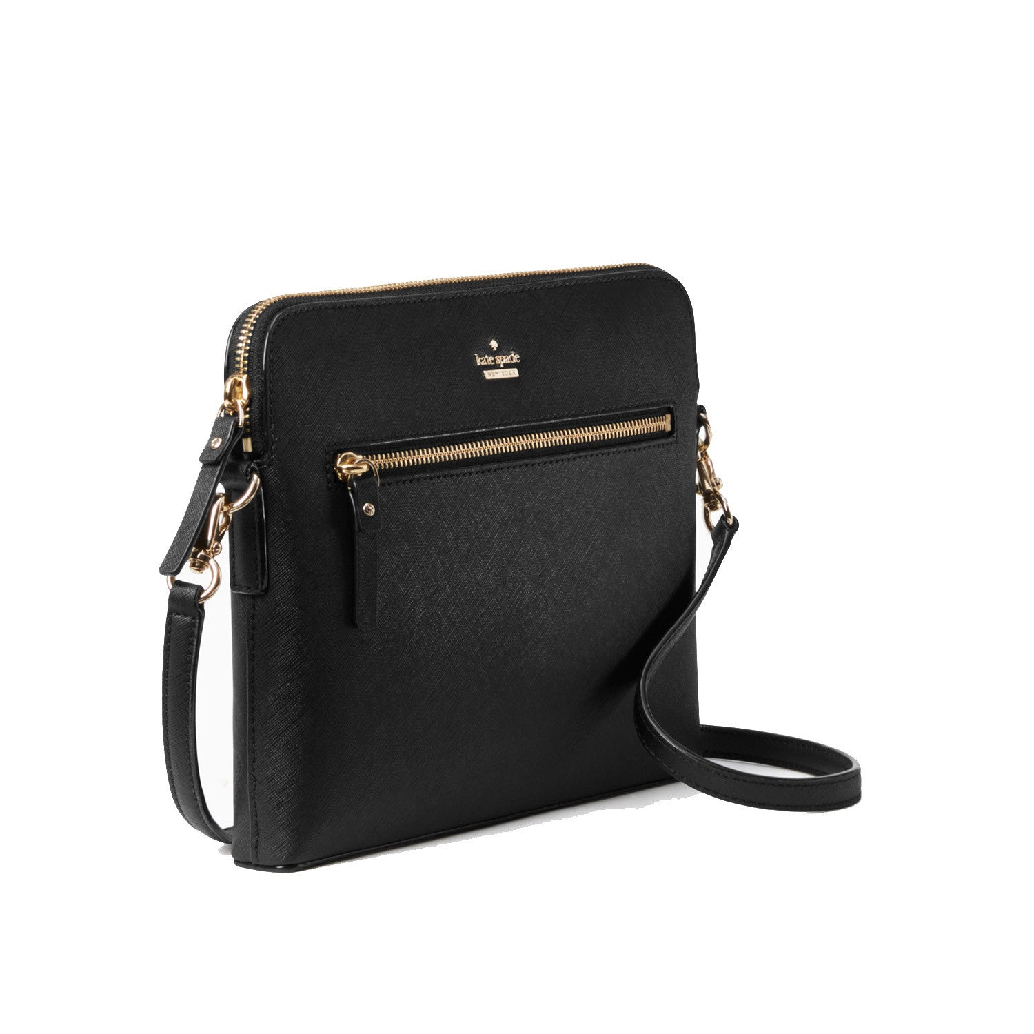 c213089ab ... Everpurse Kate Spade Zana Black Crossbody Handbag with Phone Charger  Side View ...