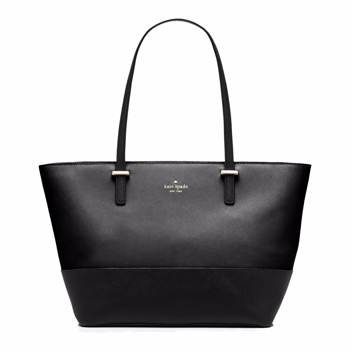 0e3bb61aa27a ... Everpurse Kate Spade Small Harmony Black Leather Tote  Purse that  Charges Phone ...