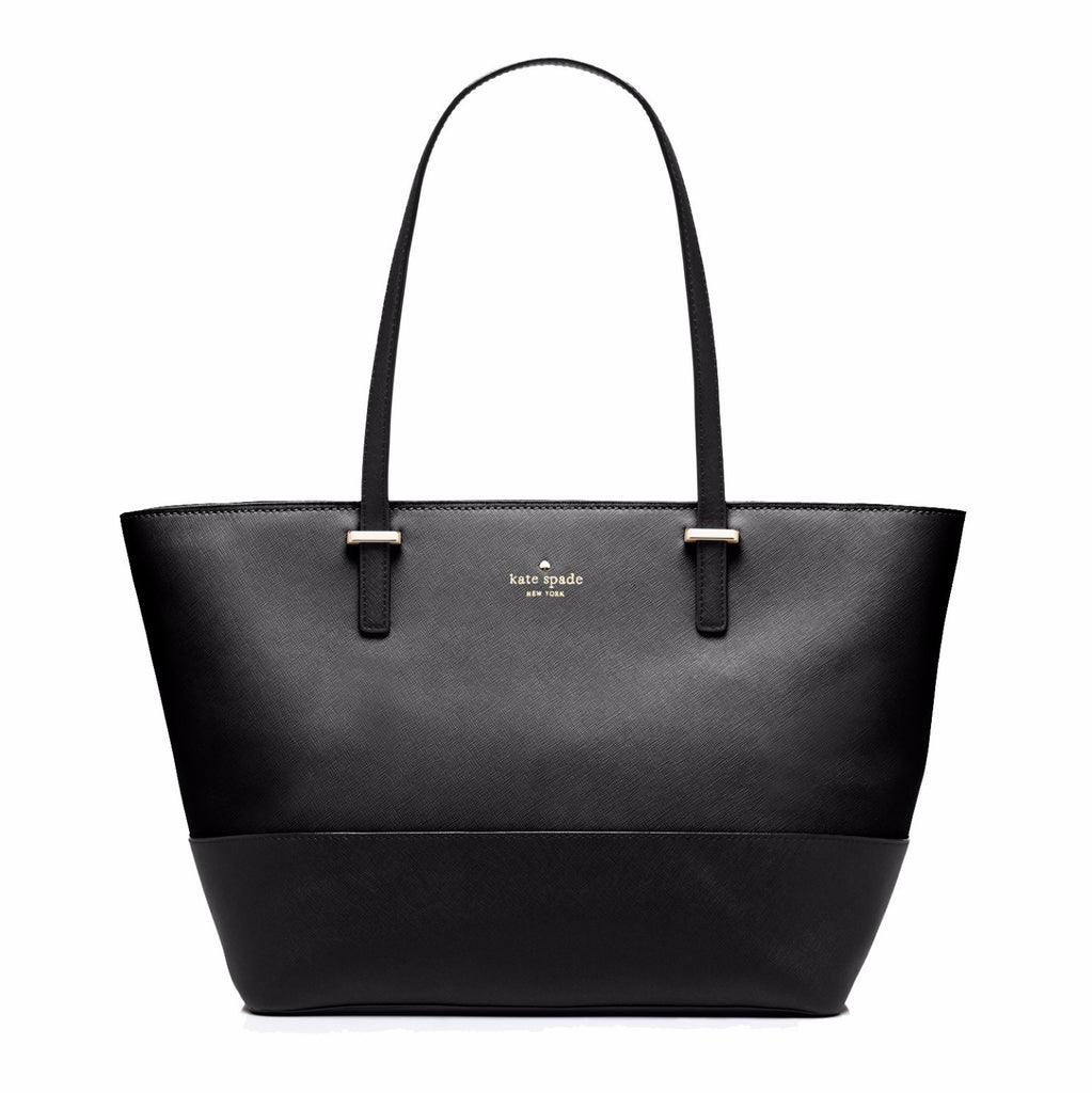 53961c468a42 Everpurse Kate Spade Small Harmony Black Leather Tote  Purse that Charges  Phone