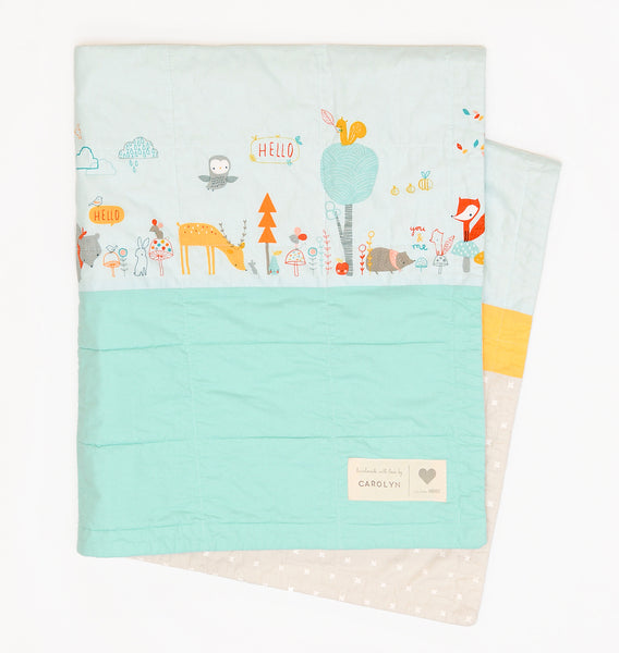 animal party baby quilt kit