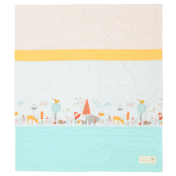 animal party pre-cut baby quilt kit