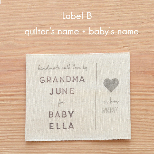 personalized quilt label B