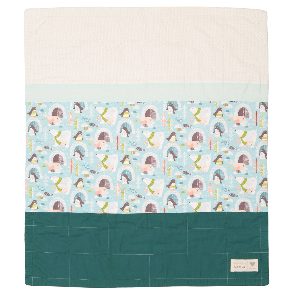 snow day pre-cut baby quilt kit