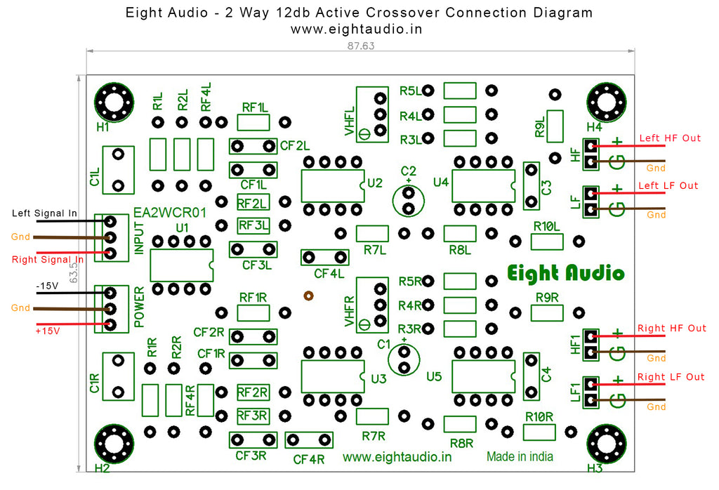 2way 12dB Octave Active Crossover