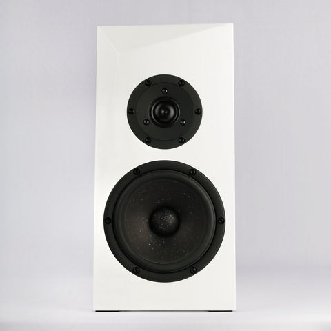 Satori Ara 2 Way Bookshelf Speakers - White Stain