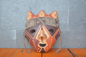 Mask with spiral by Chancay culture, Peru