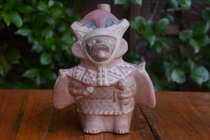 "Bat-soldier, ""huaco"" from Moche culture, Peru"