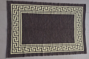 Jarapa (rug) in chocolate color from Alpujarras, Spain