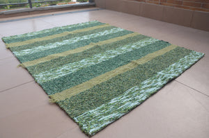 Green colored jarapa (rug) from Alpujarras, Spain