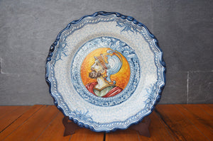 Plate With Soldier Looking To The Left From Puente Del Arzobispo, Spain