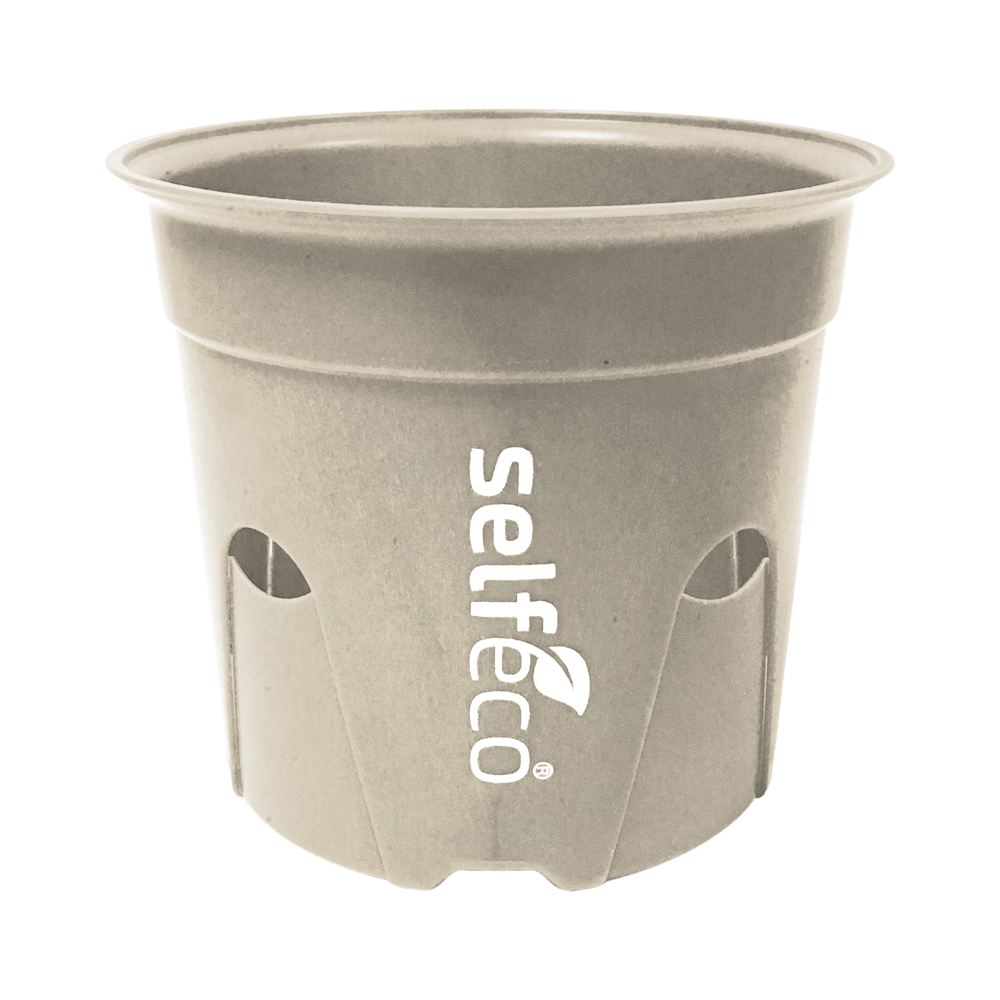 "4"" Round - Compostable Seed Starting Garden Pots - Bulk Case (250 Self Feeding Pots)-SelfEco Garden"