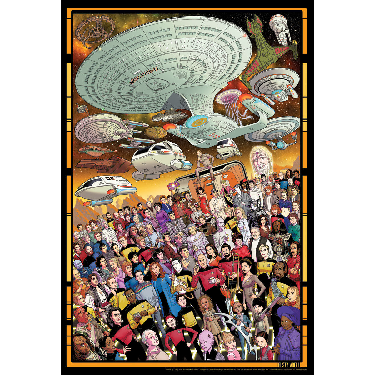 tng 30th anniversary poster set roddenberry shop