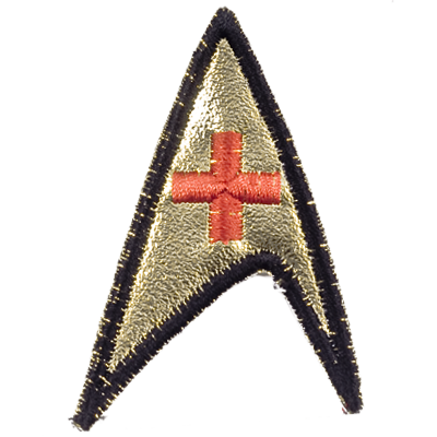 TOS Starfleet Red Cross Patch (3rd Season)
