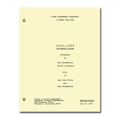 Star Trek: The Motion Picture Script