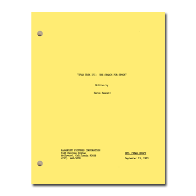 Star Trek III: The Search For Spock Script