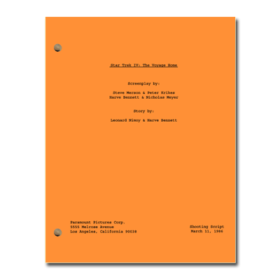 Star Trek IV: The Voyage Home Script