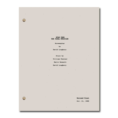 Star Trek V: The Final Frontier Script