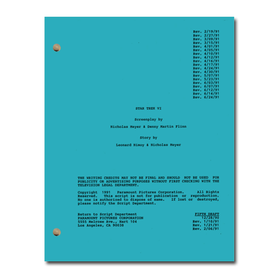 Star Trek VI: The Undiscovered Country Script