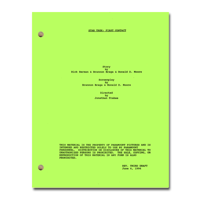 Star Trek: First Contact Script