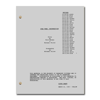 Star Trek: Insurrection Script
