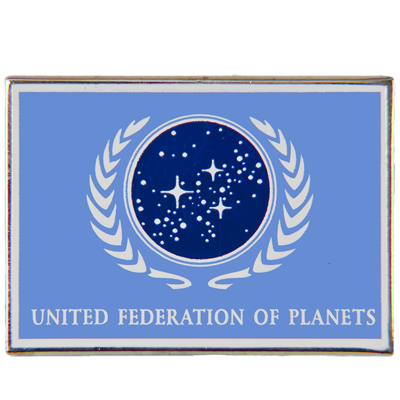 United Federation of Planets Flag Pin (BLUE)