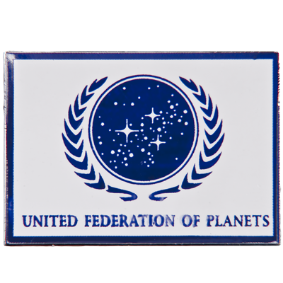 United Federation of Planets Flag Pin (WHITE)