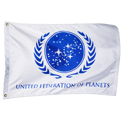 United Federation of Planets Flag (White) – Roddenberry Shop