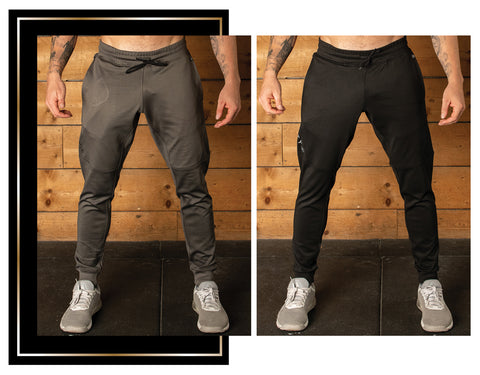 Quazar performance training pant available in black and grey