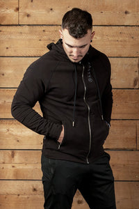 Nasty lifestyle hoody with Nasty label on back hem and pockets with YKK zips