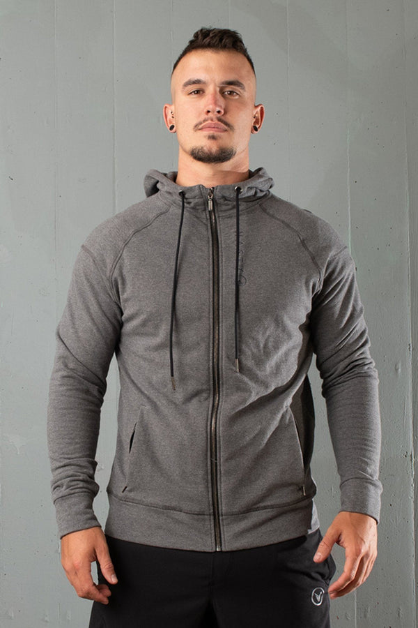 Nasty lifestyle hoody in grey heather