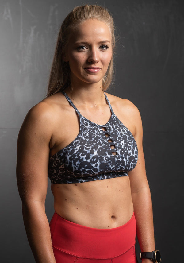 Atom Sports Bra | Fierce Leopard